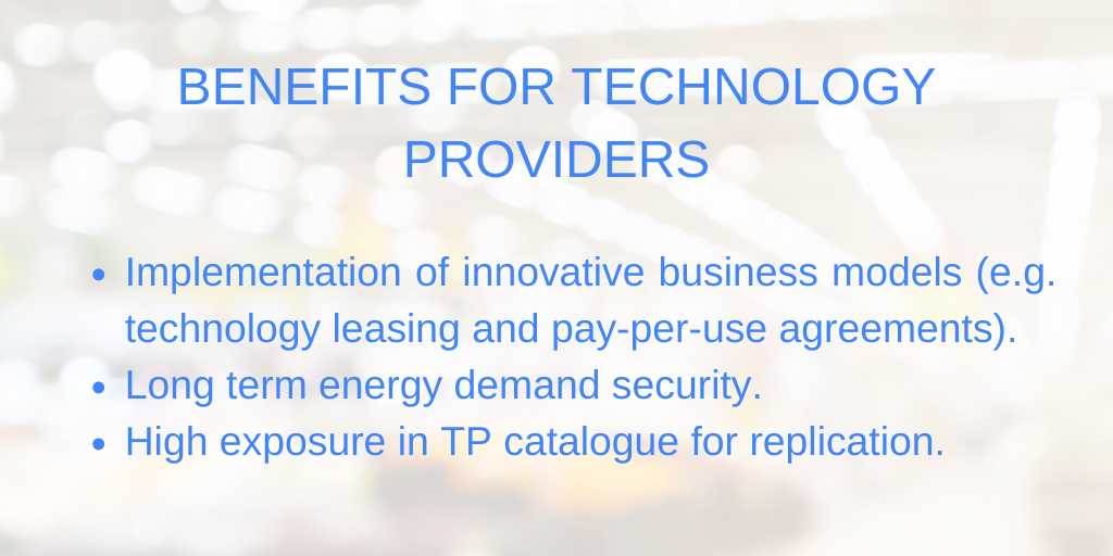 BENEFITS FOR TECHNOLOGY PROVIDERS